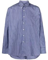 Camisa de vestir de rayas verticales en blanco y azul de Our Legacy