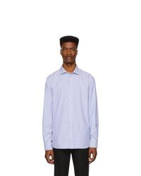 Camisa de vestir de rayas verticales en blanco y azul de Ralph Lauren Purple Label
