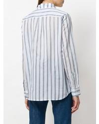 Camisa de vestir de rayas verticales en blanco y azul de Shirtaporter
