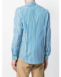 Camisa de vestir de rayas verticales en blanco y azul de Department 5