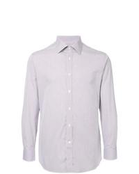 Camisa de vestir de rayas verticales en blanco y rojo y azul marino de Gieves & Hawkes