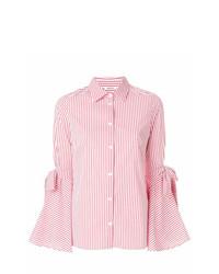 Camisa de vestir de rayas verticales en blanco y rojo de P.A.R.O.S.H.