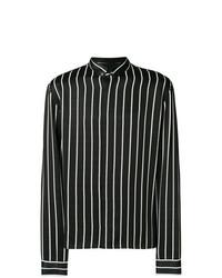 Camisa de vestir de rayas verticales en negro y blanco de Haider Ackermann