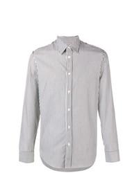 Camisa de vestir de rayas verticales en negro y blanco de Maison Margiela