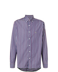 Camisa de vestir de rayas verticales en violeta de Lanvin