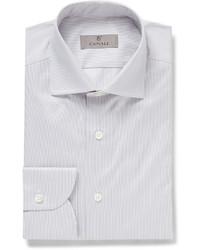 Camisa de vestir de rayas verticales gris de Canali