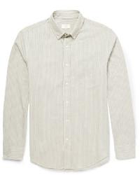 Camisa de vestir de rayas verticales gris de Club Monaco