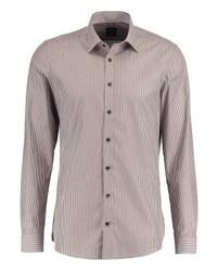Camisa de Vestir de Rayas Verticales Gris de Olymp