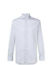 Camisa de vestir de rayas verticales gris de Z Zegna