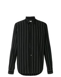 Camisa de vestir de rayas verticales negra de AMI Alexandre Mattiussi