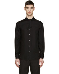 Camisa de vestir de rayas verticales negra de Ann Demeulemeester