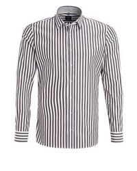 Camisa de Vestir de Rayas Verticales Negra de Olymp No. 6