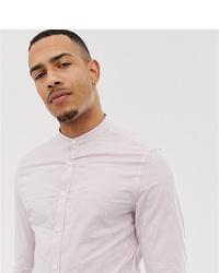 Camisa de vestir de rayas verticales rosada de ASOS DESIGN