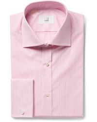 Camisa de Vestir de Rayas Verticales Rosada de Dunhill