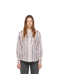 Camisa de vestir de rayas verticales rosada de Isabel Marant Etoile