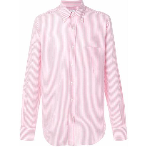 Camisa de vestir de rayas verticales rosada de Loro Piana