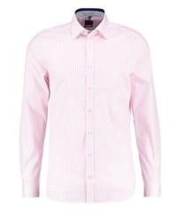 Camisa de Vestir de Rayas Verticales Rosada de Olymp