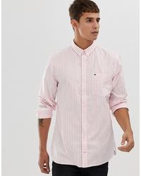 Camisa de vestir de rayas verticales rosada de Tommy Hilfiger