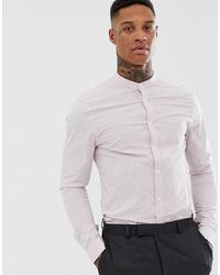 Camisa de vestir de rayas verticales violeta claro de ASOS DESIGN