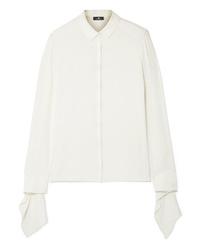 Camisa de vestir de seda blanca de Akris