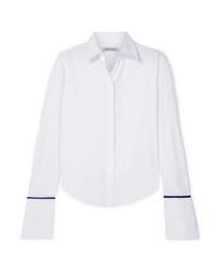 Camisa de vestir de seda blanca de Anna Quan