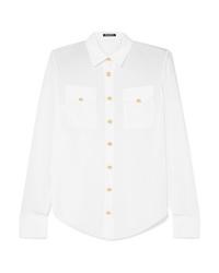 Camisa de vestir de seda blanca de Balmain