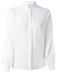 Camisa de vestir de seda blanca de Lanvin