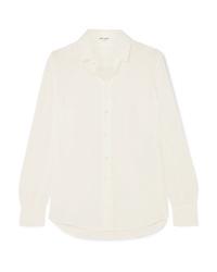 Camisa de vestir de seda blanca de Saint Laurent