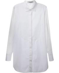 Camisa de vestir de seda blanca de Valentino