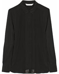 Camisa de vestir de seda negra