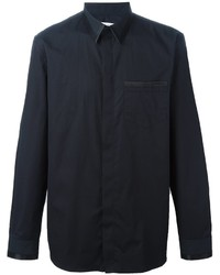 Camisa de Vestir de Seda Negra de Givenchy