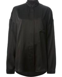 Camisa de vestir de seda negra de Haider Ackermann