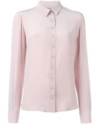 Camisa de vestir de seda rosada de Alexander McQueen