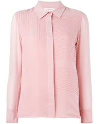 Camisa de vestir de seda rosada de Tory Burch