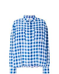 Camisa de vestir de tartán azul de Natasha Zinko