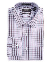 Camisa de vestir de tartán en violeta