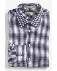 Camisa de vestir en azul marino y blanco