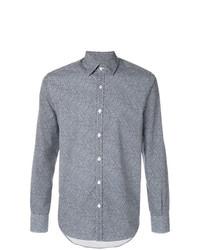 Camisa de vestir en azul marino y blanco de Canali