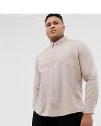 Camisa de vestir en beige de ASOS DESIGN