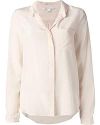 Camisa de vestir en beige de Diane von Furstenberg