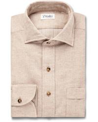 Camisa de vestir en beige de Drakes