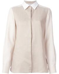 Camisa de vestir en beige de Max Mara