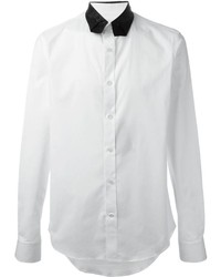 Camisa de Vestir en Blanco y Negro de Alexander McQueen