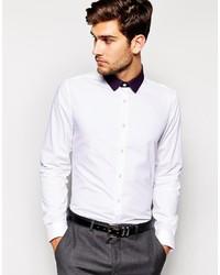 Camisa de Vestir en Blanco y Negro de Asos