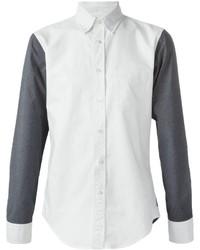 Camisa de Vestir en Blanco y Negro de Lardini