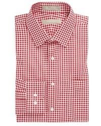 Camisa de vestir en blanco y rojo