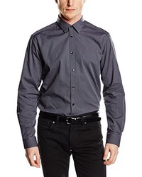 Camisa de vestir en gris oscuro de ESPRIT Collection