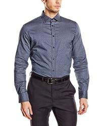 Camisa de vestir en gris oscuro de s.Oliver Premium
