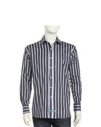 Camisa de vestir en negro y blanco