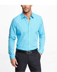 Camisa de vestir en turquesa